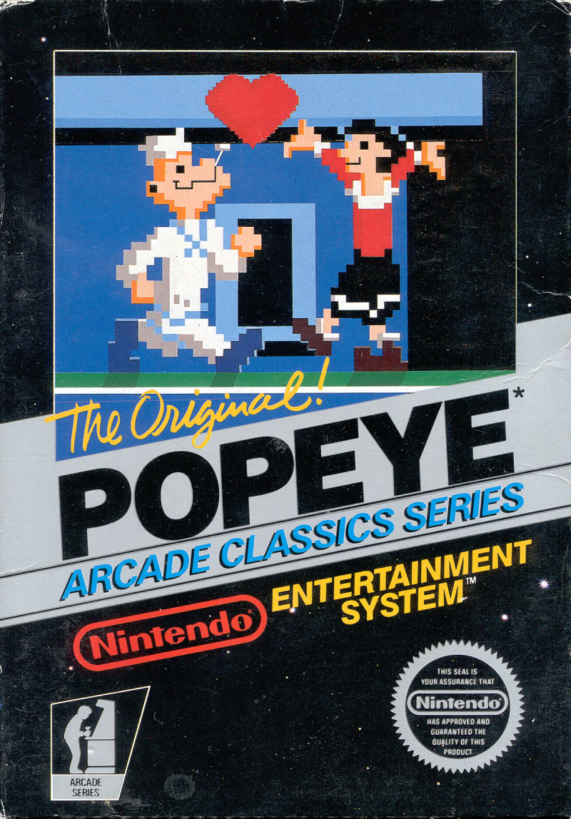Popeye NES Front Cover