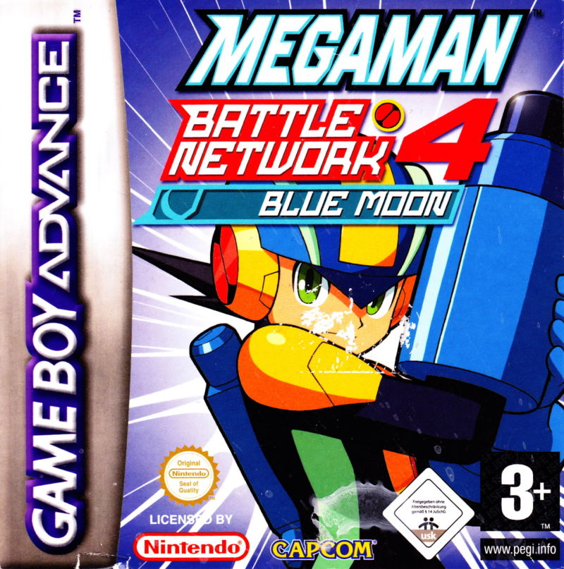 Mega Man Battle Network 4: Blue Moon Game Boy Advance Front Cover