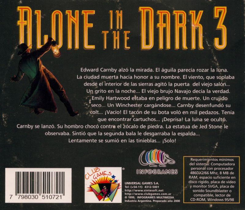 Alone In The Dark 3 1994 Box Cover Art Mobygames