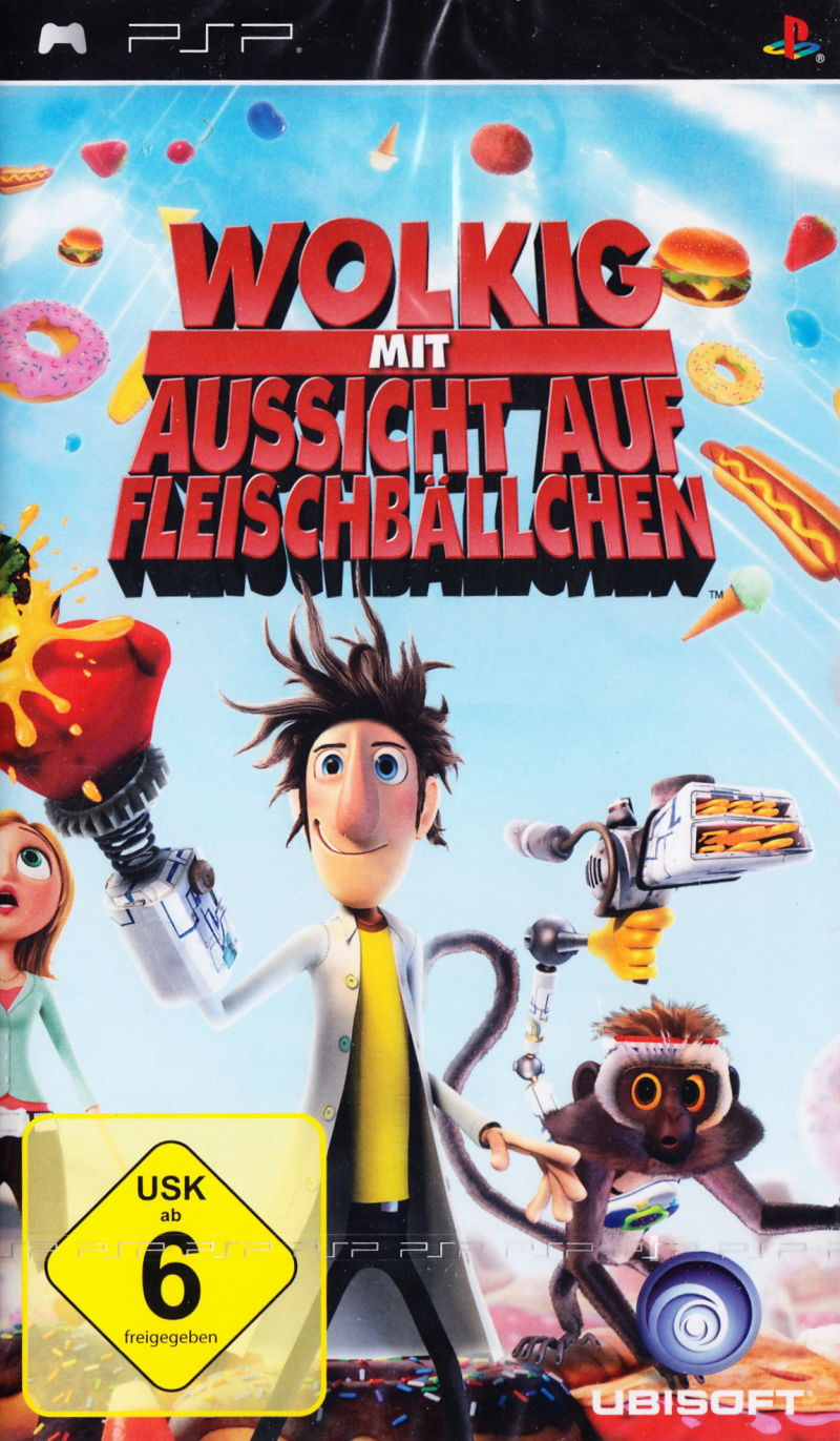 Cloudy With A Chance Of Meatballs 2009 Psp Box Cover Art Mobygames