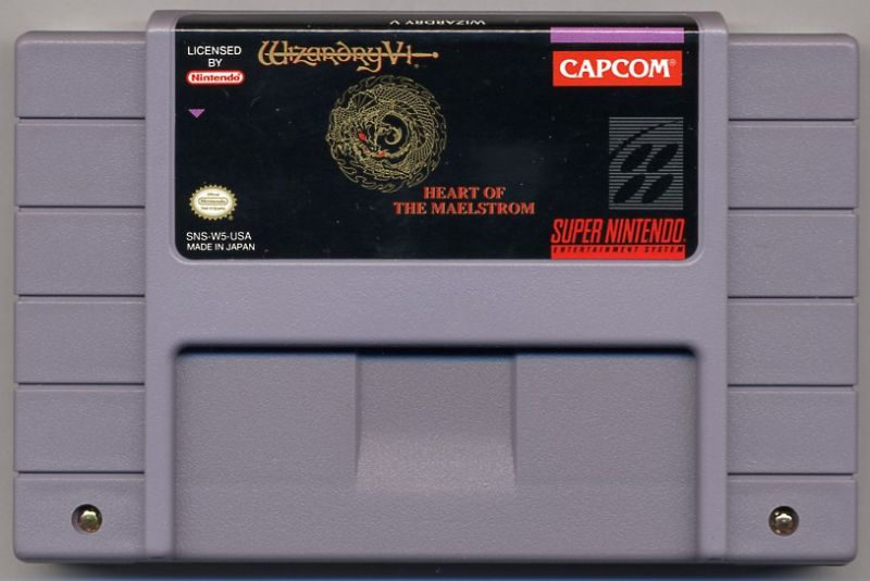 Wizardry V: Heart of the Maelstrom SNES Media