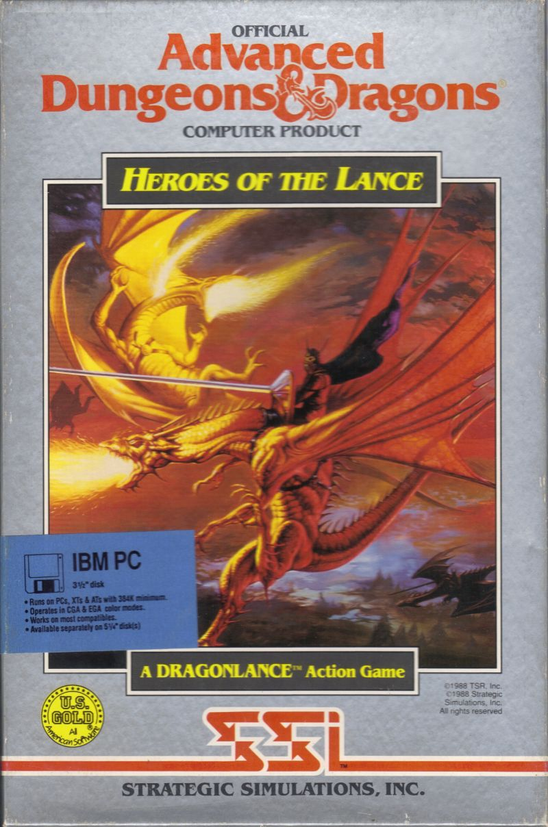 Heroes of the Lance DOS Front Cover