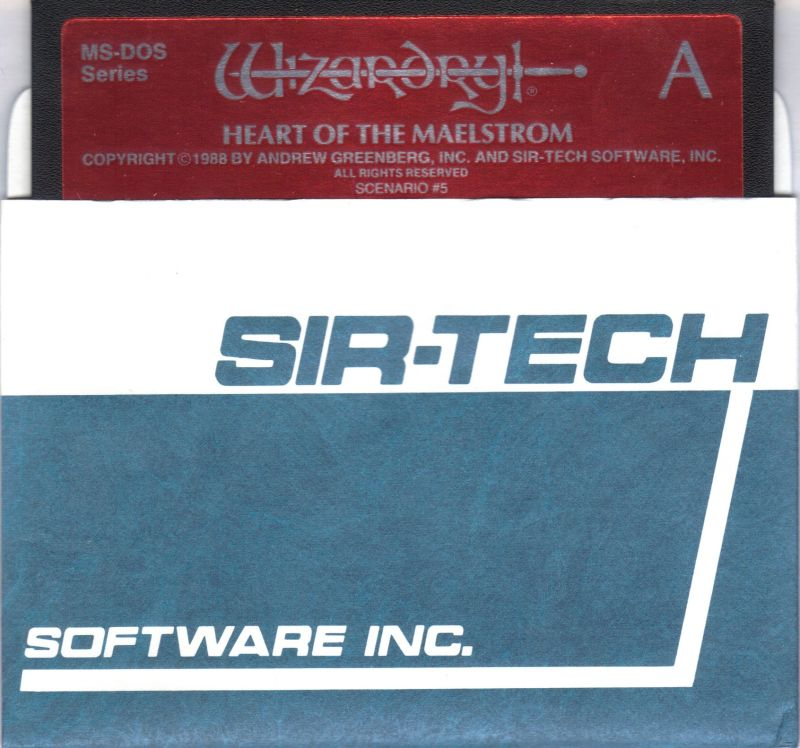 Wizardry V: Heart of the Maelstrom PC Booter Media Disk 1/3