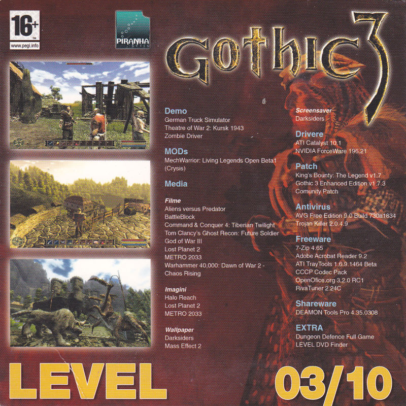 Gothic 3 (2006) Windows box cover art - MobyGames