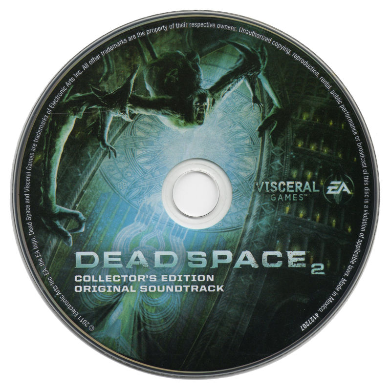 Dead Space 2 (Collector's Edition) Xbox 360 Media Soundtrack CD