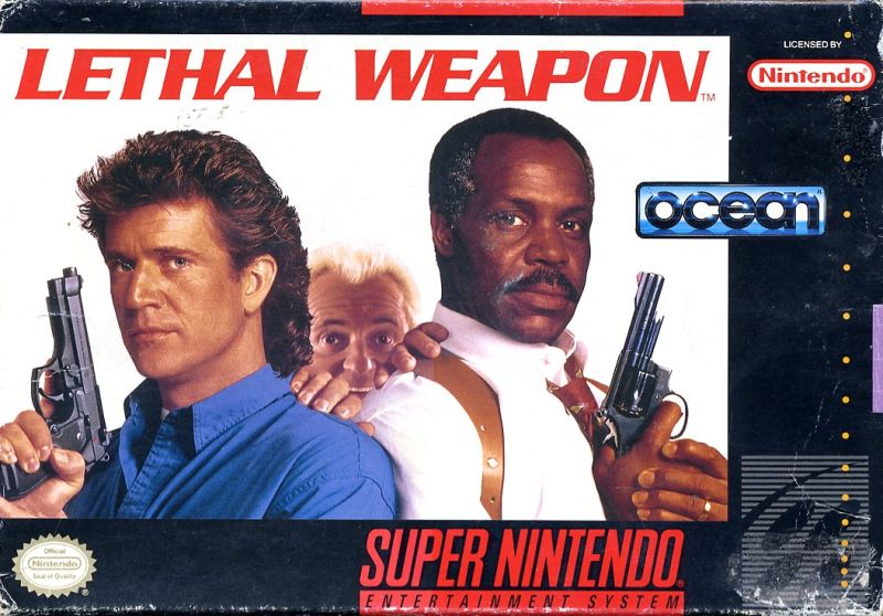 Lethal Weapon SNES Front Cover