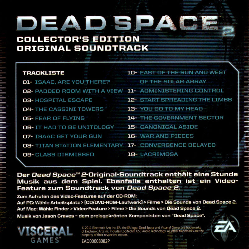 Dead Space 2 (Collector's Edition) Windows Other Soundtrack - Back