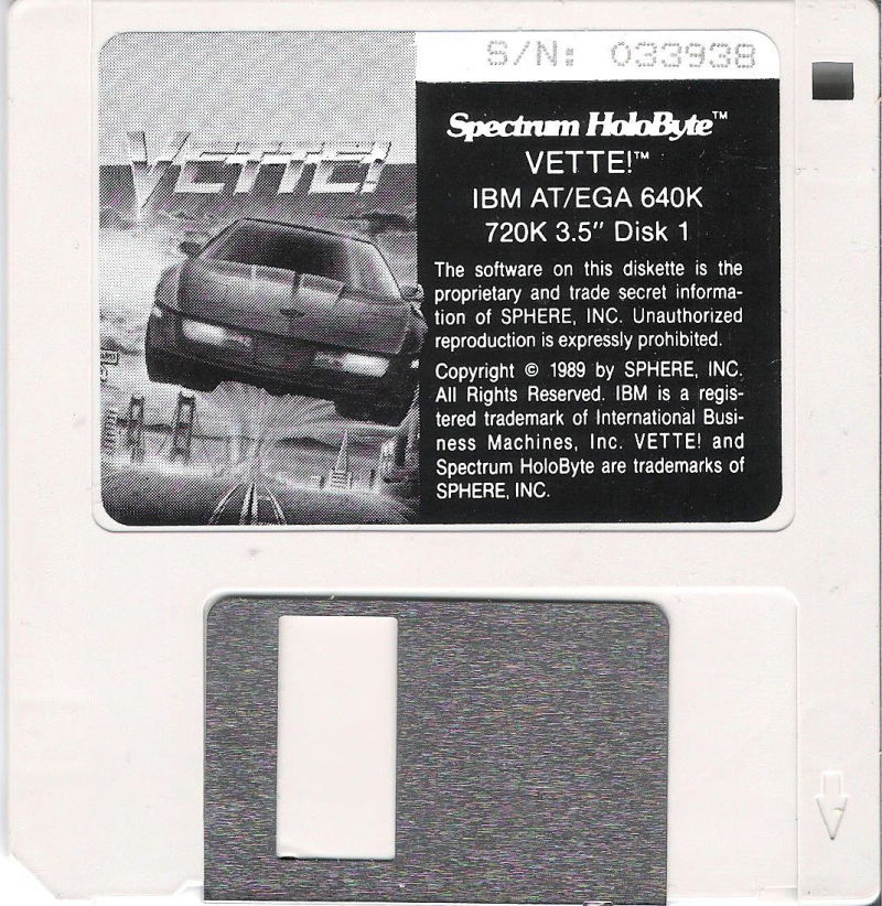 "Vette! DOS Media 3.5"" 720KB (EGA)"
