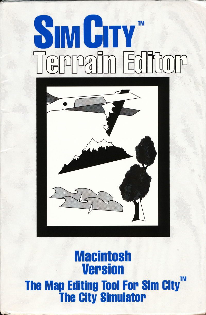 SimCity: Terrain Editor Macintosh Front Cover