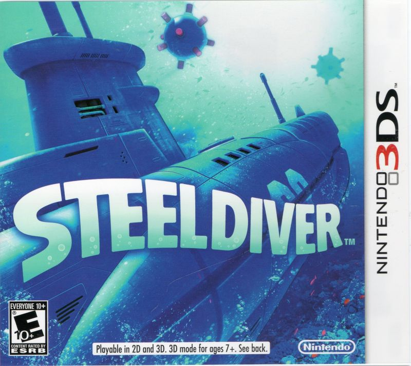 Steel Diver Nintendo 3DS Front Cover