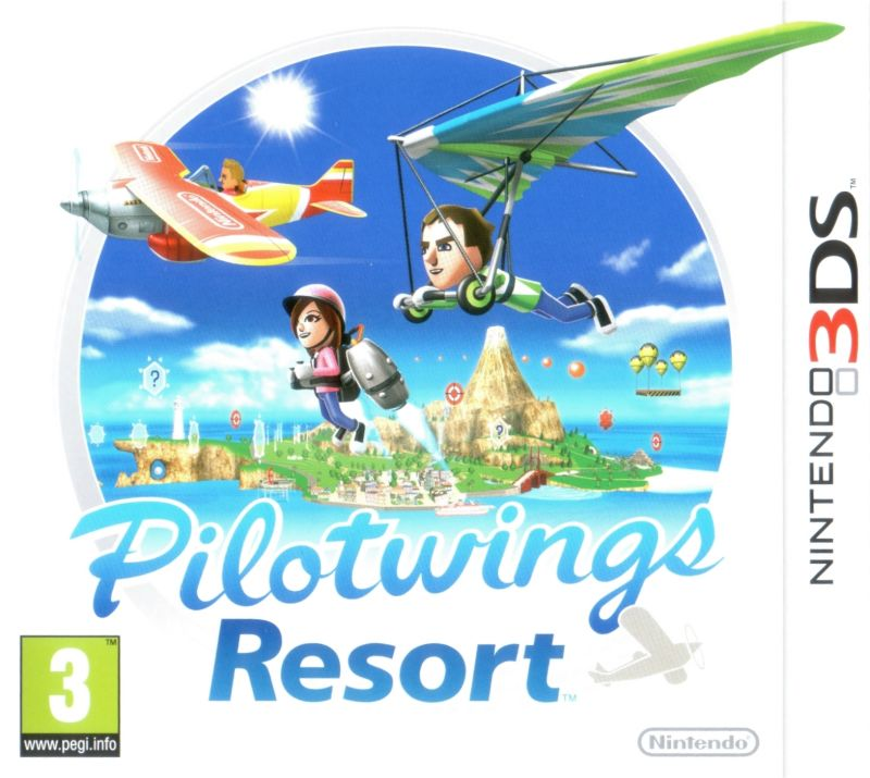 Pilotwings Resort Nintendo 3DS Front Cover