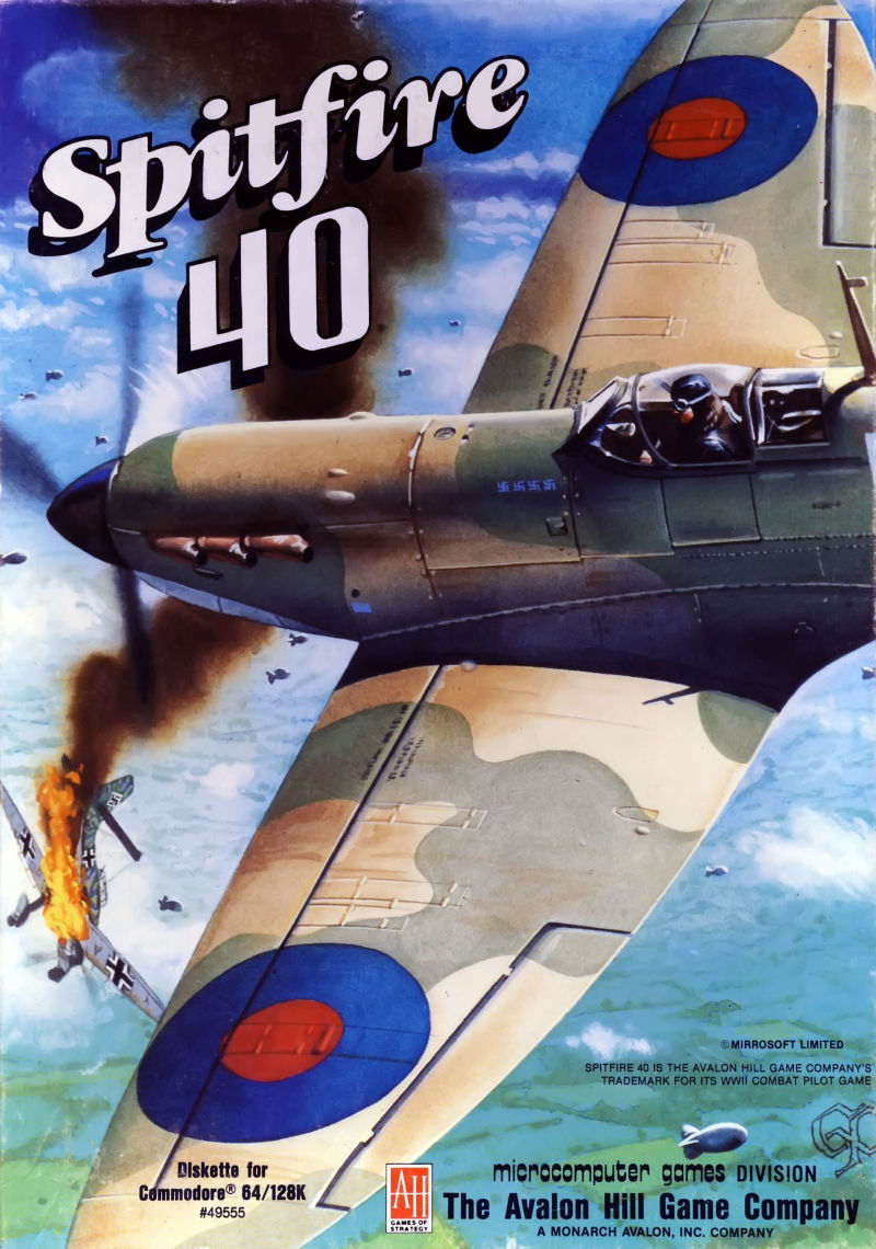 Spitfire '40 Commodore 64 Front Cover