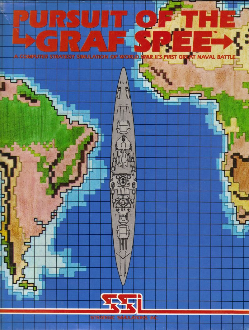 Pursuit of the Graf Spee Apple II Front Cover