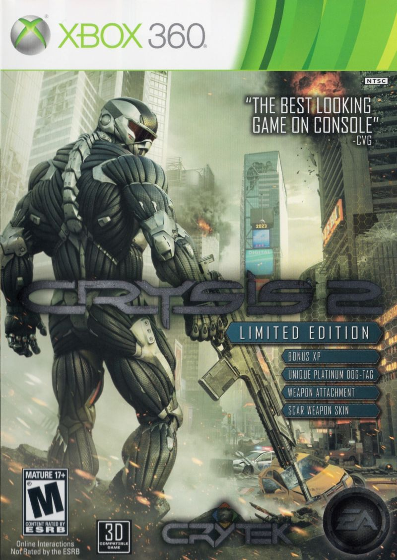 Crysis 2 (Limited Edition) Xbox 360 Front Cover