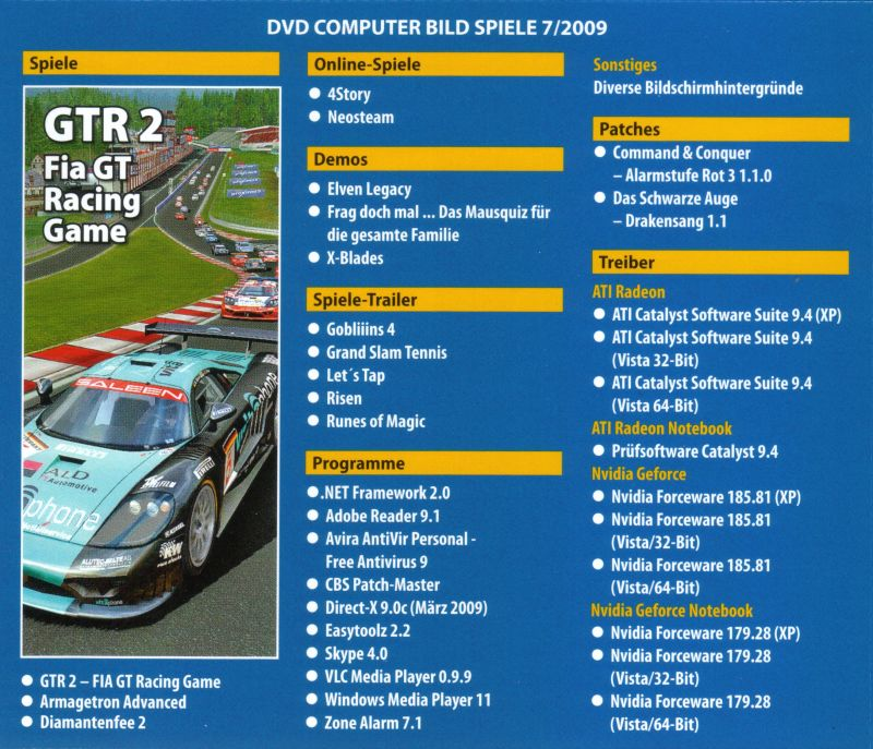 GTR 2: FIA GT Racing Game Windows Back Cover