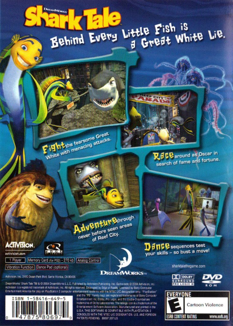 Dreamworks Shark Tale 2004 Playstation 2 Box Cover Art Mobygames