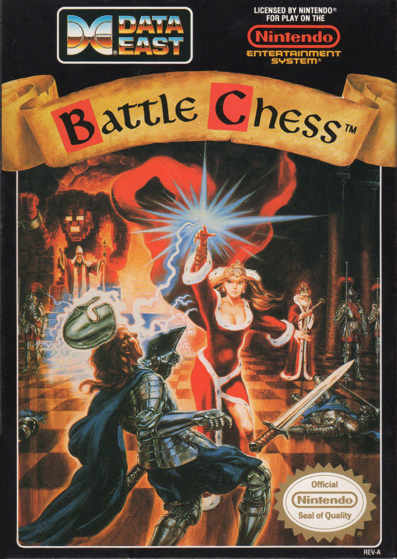 Battle Chess NES Front Cover