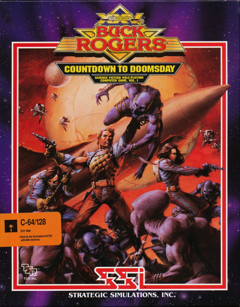 Buck Rogers: Countdown to Doomsday Commodore 64 Front Cover