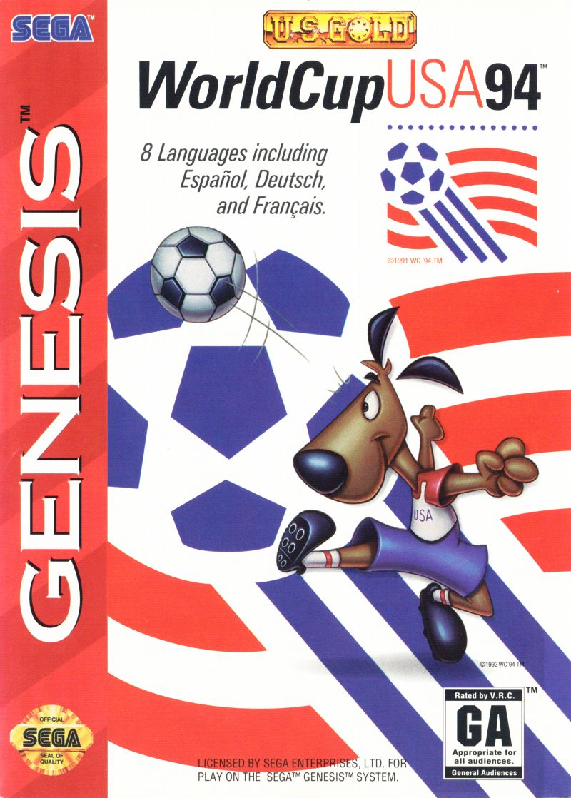 World Cup USA 94 Genesis Front Cover