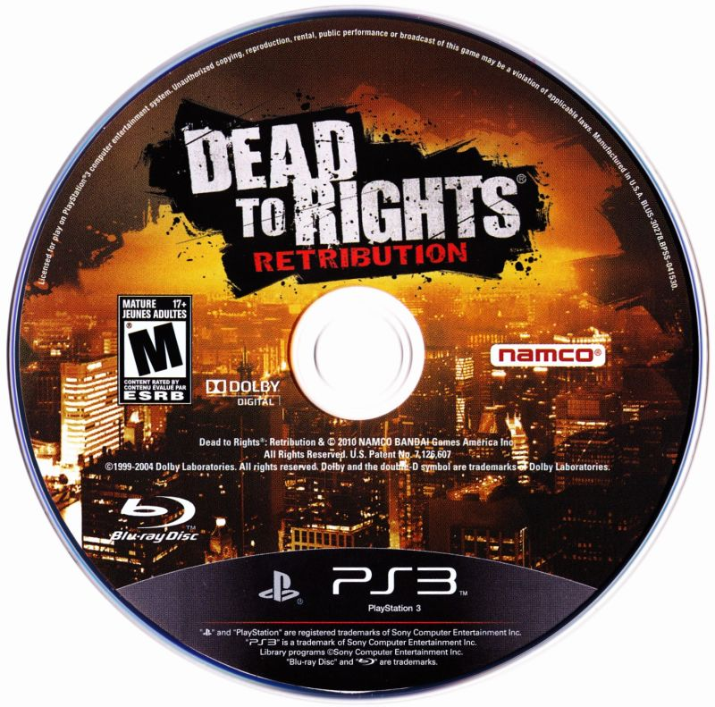 Dead to Rights: Retribution PlayStation 3 Media