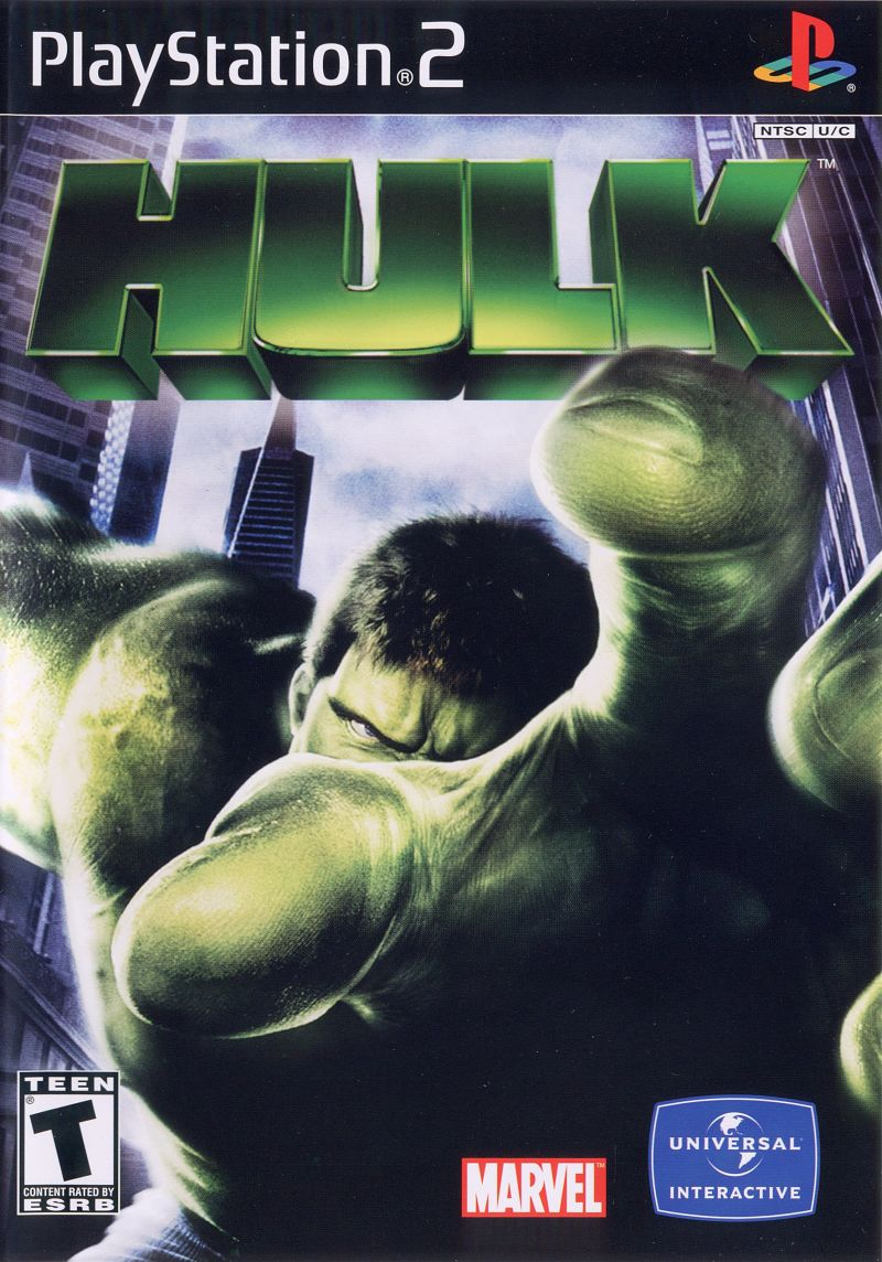 Hulk PlayStation 2 Front Cover