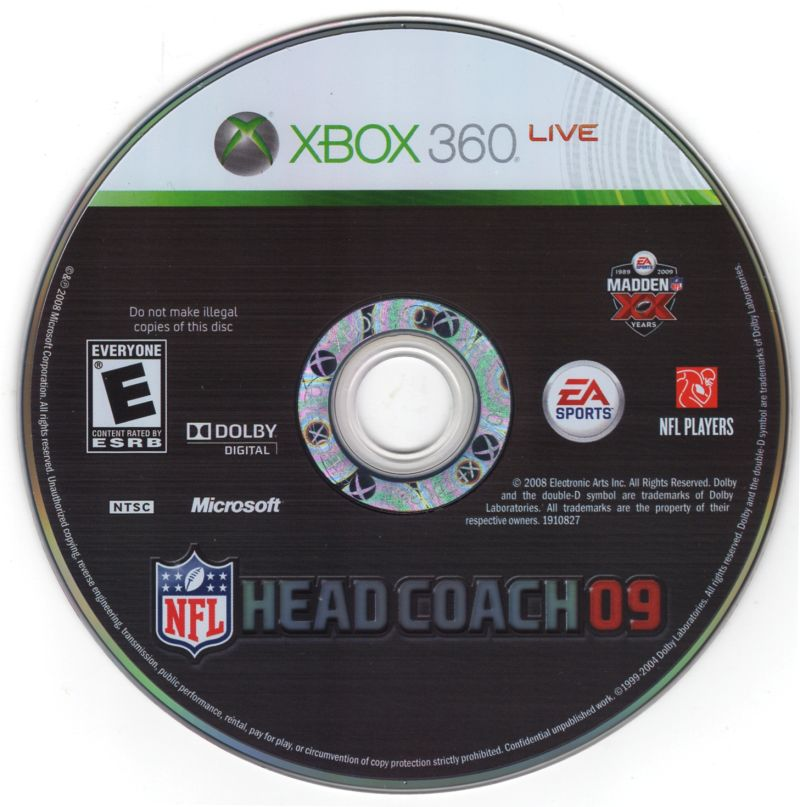 Madden NFL: XX Years (Collector's Edition) Xbox 360 Media Head Coach 09