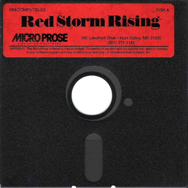 "Red Storm Rising DOS Media 5.25"" Disk 1/2"