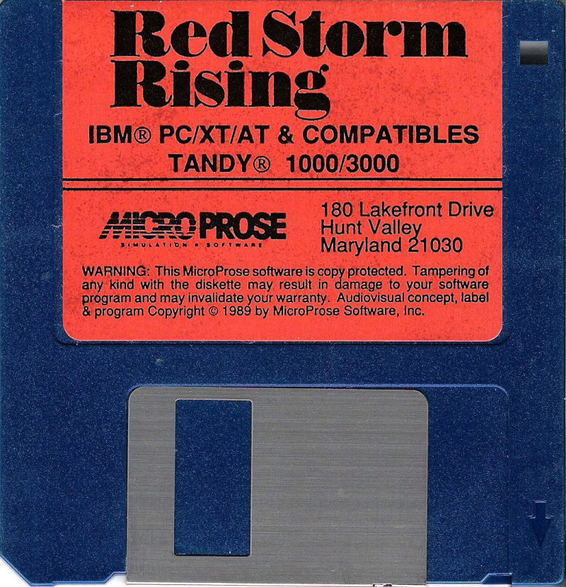 "Red Storm Rising DOS Media 3.5"" Disk"