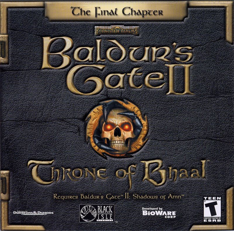 Baldur's Gate II: Throne of Bhaal Windows Other Jewel Case - Front