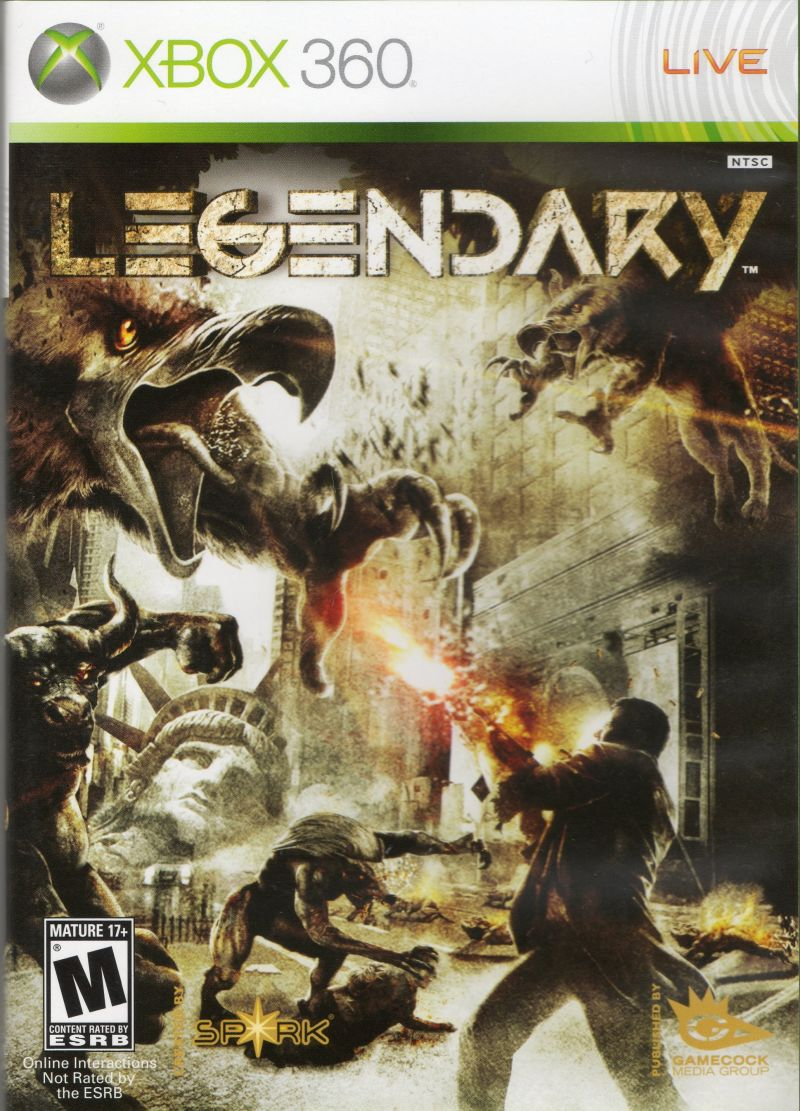 Legendary (2008) Xbox 360 box cover art - MobyGames Xbox 360 Game Cover Art