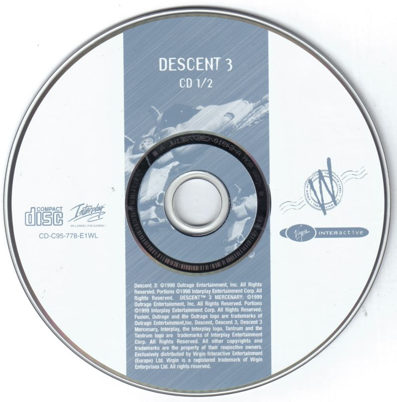 Descent³ / Descent³: Mercenary Windows Media Descent³ - Disc 1/2