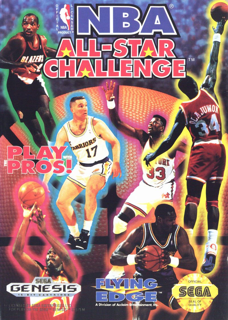 NBA All-Star Challenge Genesis Front Cover