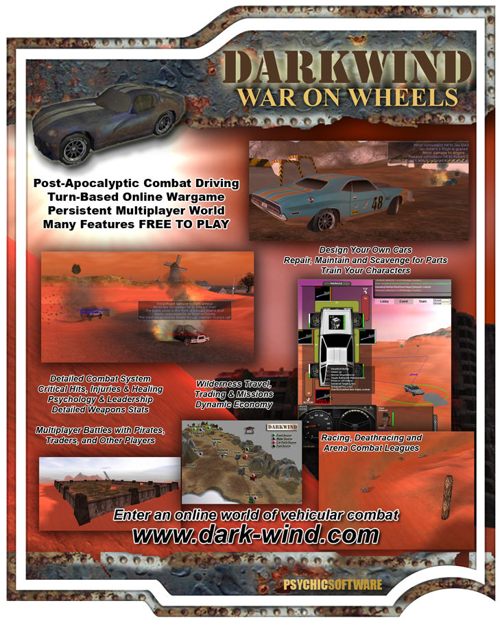 Darkwind: War on Wheels Windows Front Cover