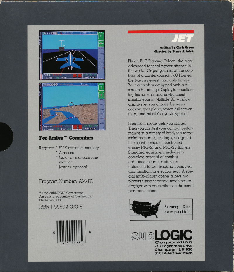 Jet Amiga Back Cover