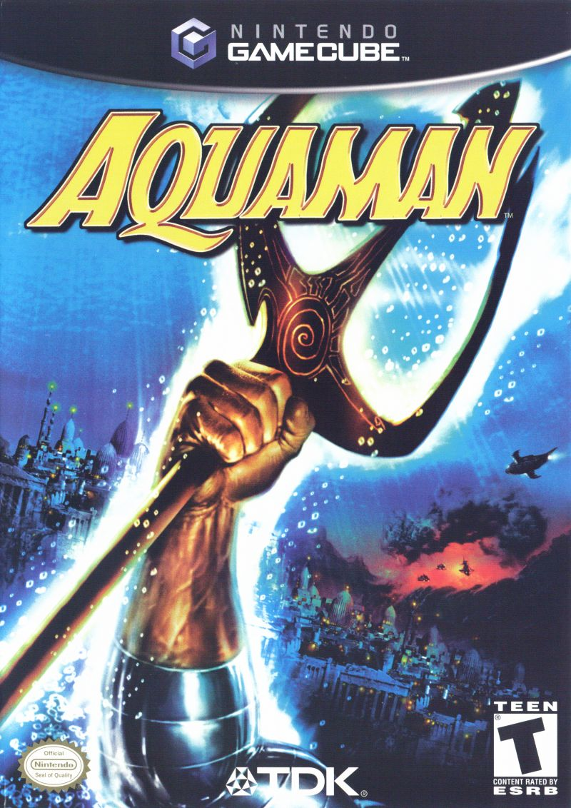 Aquaman: Battle for Atlantis GameCube Front Cover