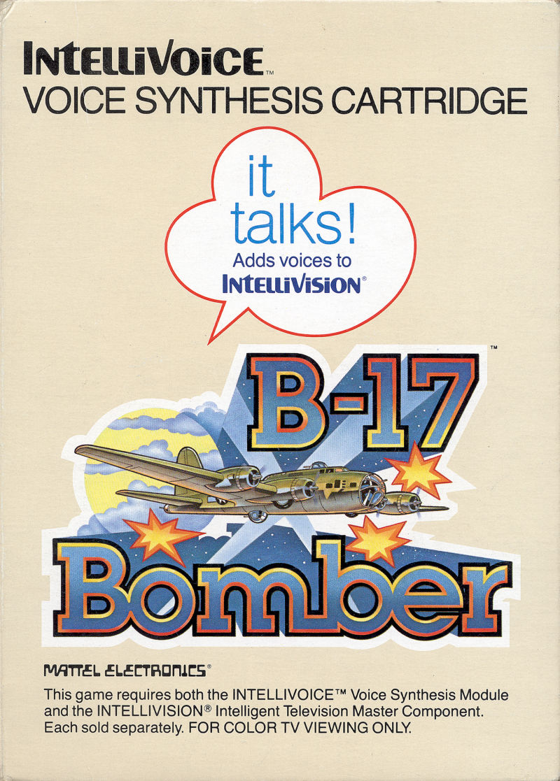 B-17 Bomber for Intellivision (1982) Overlays - MobyGames