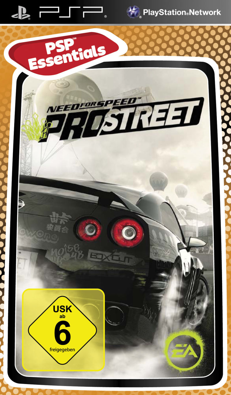 Need For Speed ProStreet PSP Front Cover
