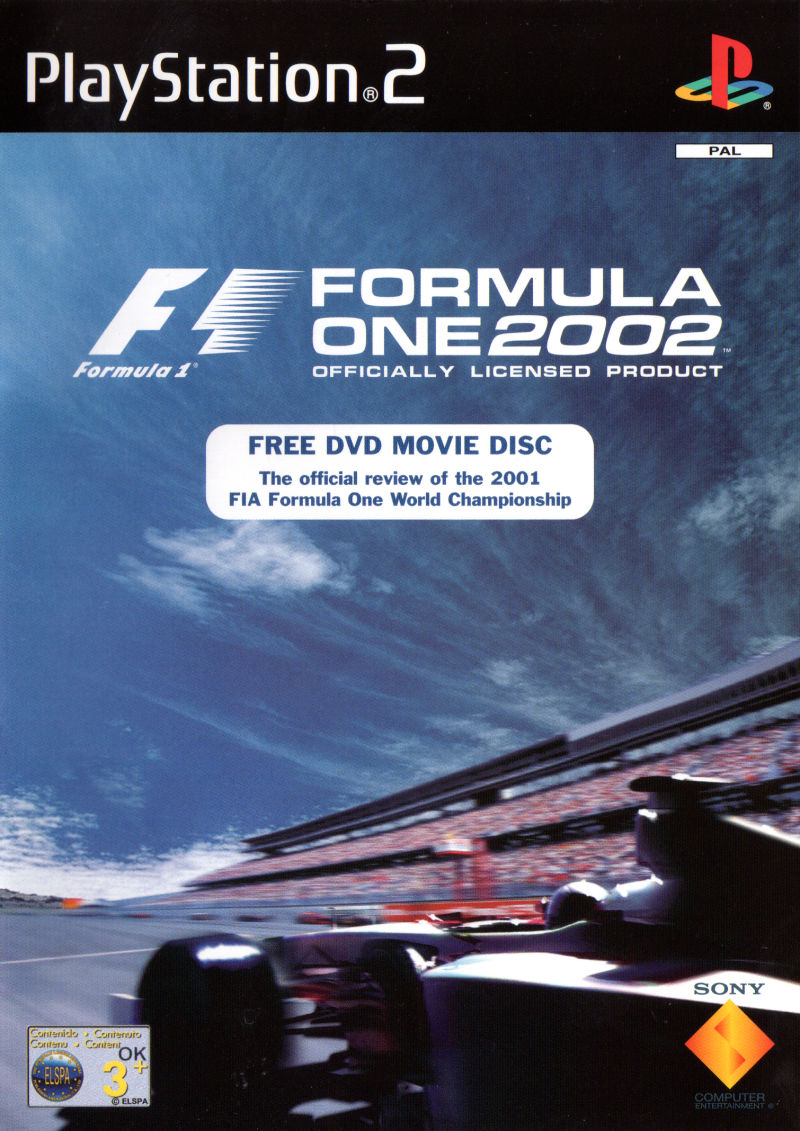 Formula One 2002 PlayStation 2 Front Cover