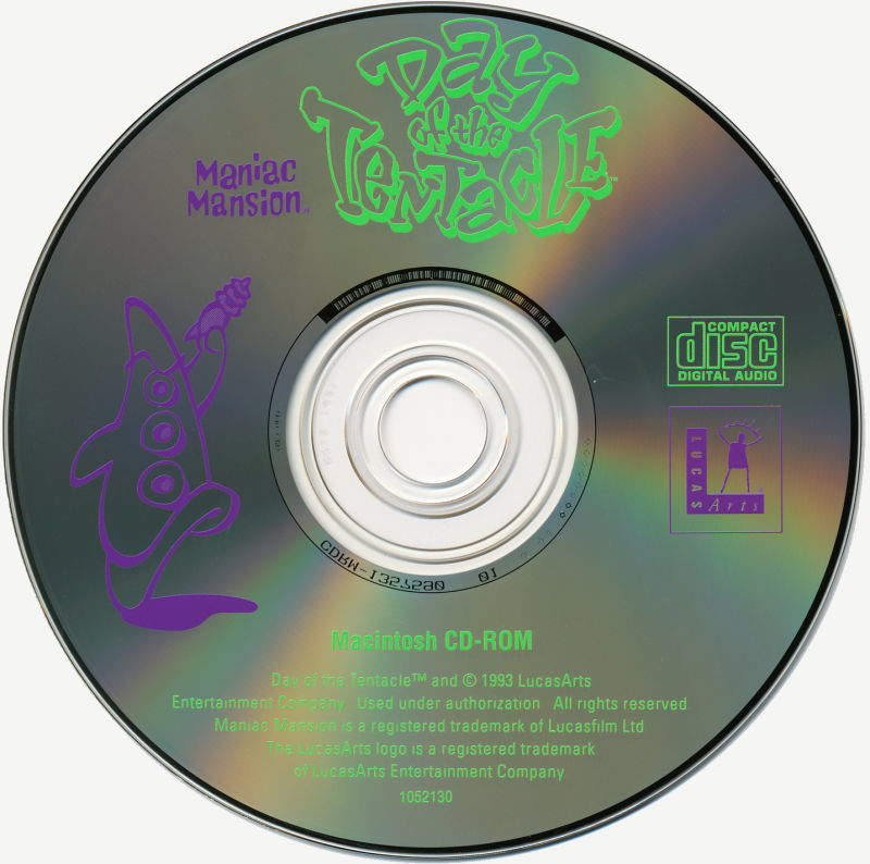 Maniac Mansion: Day of the Tentacle Macintosh Media