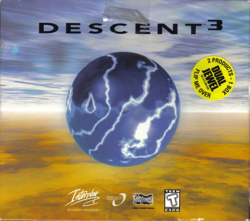 Descent³ and Descent³ Mercenary (Dual Jewel Release) Windows Front Cover