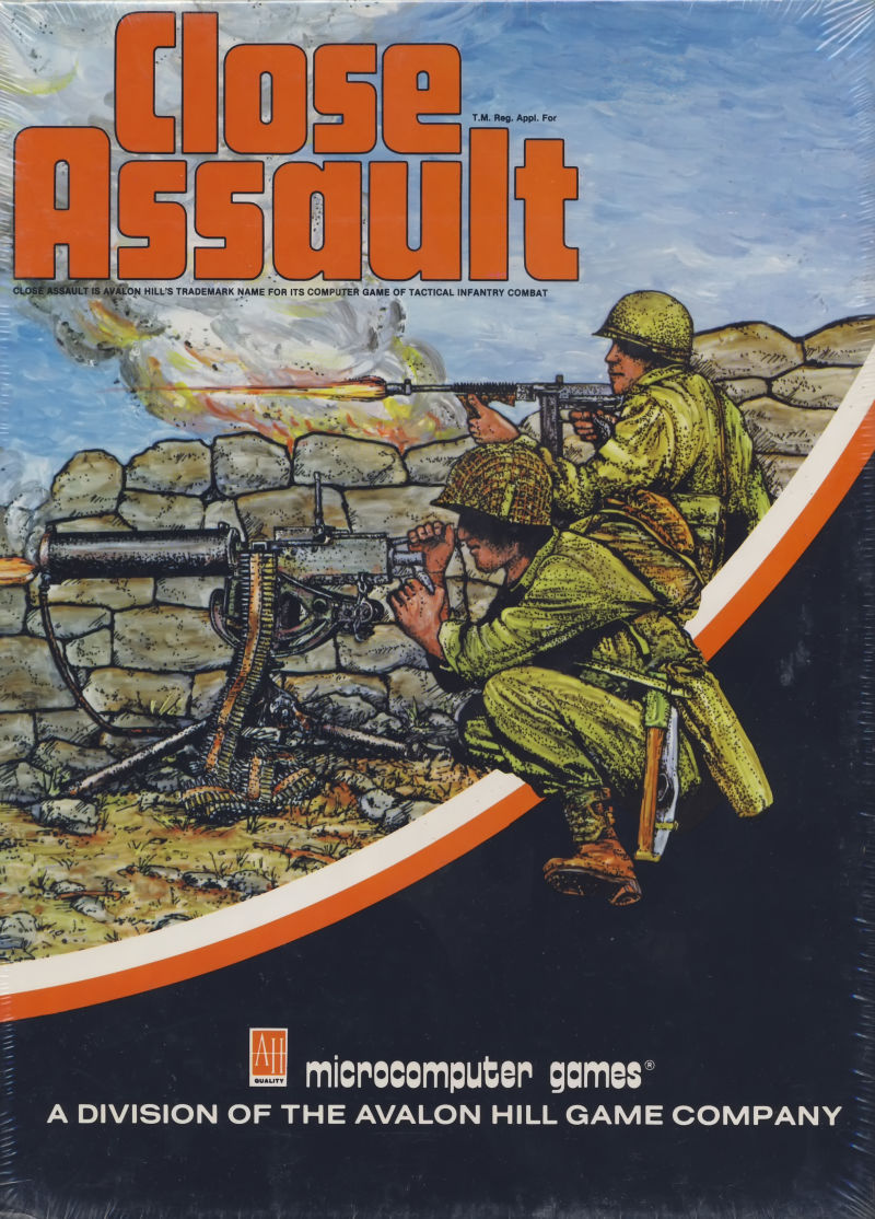Close Assault Atari 8-bit Front Cover