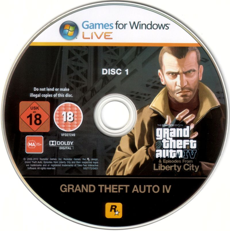 Grand Theft Auto IV: Complete Edition Windows Media