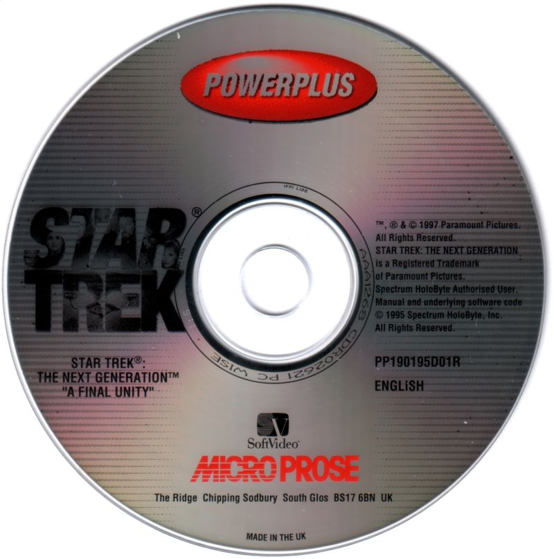 "Star Trek: The Next Generation - ""A Final Unity"" DOS Media"