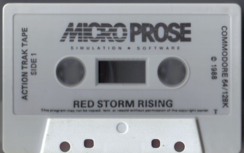 Red Storm Rising Commodore 64 Media Action Tape