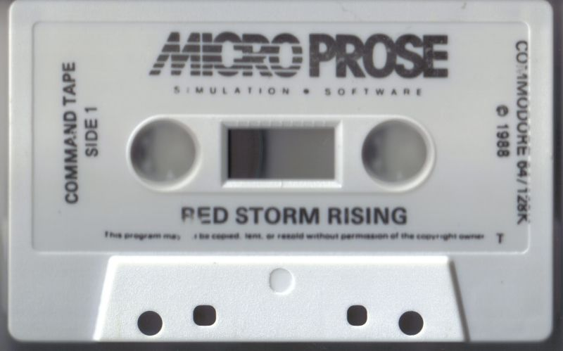 Red Storm Rising Commodore 64 Media Command Tape