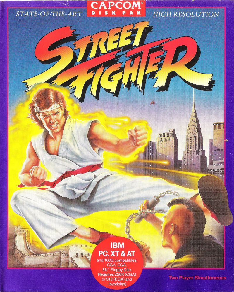 Street Fighter DOS Front Cover