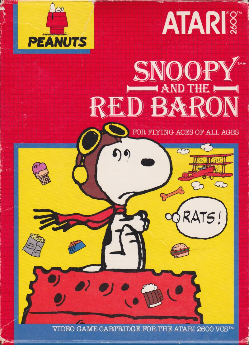 Snoopy and the Red Baron Atari 2600 Front Cover