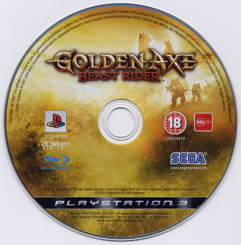 Golden Axe: Beast Rider PlayStation 3 Media