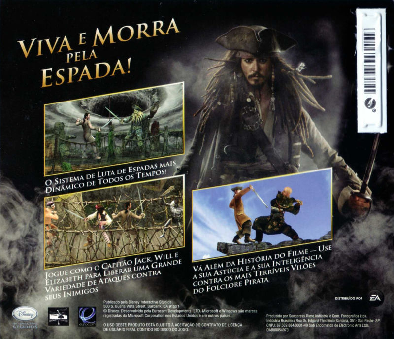 Disney Pirates of the Caribbean: At World's End Windows Other Sleeve - Back