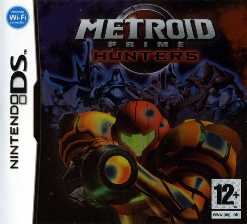 Metroid Prime: Hunters (2006) Nintendo DS box cover art - MobyGames